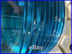 1 Vintage Marine Navigation Marker Light, 360 Degree Green Or Red Fresnel Lens