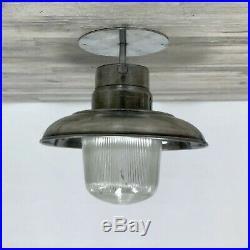 10 Inch Vintage Aluminum Nautical Ship's Pendant Light
