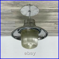 12 Inch Vintage Aluminum Nautical Ship's Pendant Light