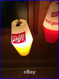 1960s Vintage Schlitz Beer Modern Buoy Nautical Lighted Wall Sconce/ Beer Sign