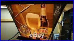 1960s Vtg Genesee Rotating Motion Beer Light Sign Fishing Lure Ship Nautical HTF