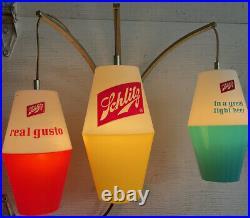 1960s schlitz Vintage Buoy Nautical Fishing Hanging Lights