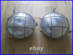 2 Vintage Round Brass Bulk Head Lamp Lights top quality from E2 COMPANY STOKE