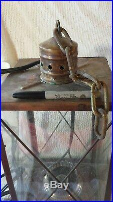 20 Vtg outdoor Maritime Nautical Ship Oil Lamp Brass Lantern electric light