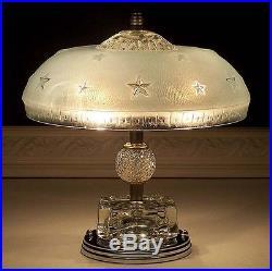 329 Vintage 40's Nautical Maritime Ceiling Lamp Light Fixture STARS sky blue