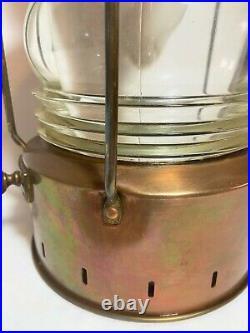 Ankerlight Vintage Ship Lantern Maritime Metal Glass Nautical Light 15.5 High