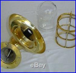 Antique Brass Bulkhead Vintage Marine Ship light with Brass Cap Set of 1 Pcs