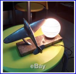 Antique Desk Lamp Vintage Plane Design Table Light Bedside Lamp Light Airplane