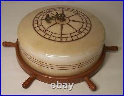 Antique Nautical Ceiling Light Ship Wheel Compass Vtg Anchor Rewired USA #O66