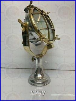Antique Nautical Vintage Style Marine Ship Mini Spot Light Aluminum & Brass
