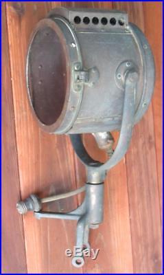 Antique Rushmore Brass Search Light VTG Nautical Lamp T Bird Fire Truck Lantern