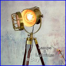 Antique Spot Light Vintage Industrial Retro Metal Tripod Floor Lamp Standing New