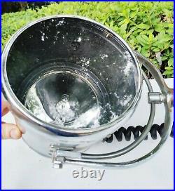Antique VTG Chrome / Brass PERKO Nautical Boat Search spot light industrial lamp