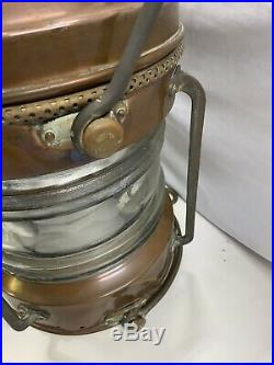 Antique/Vintage Brass XL 20 Tall NAUTICAL ANCHOR Ship Light with Globe Electric