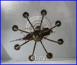 Antique Vintage Bronze Chandelier Ship Nautical Cutty Sark 8 Light Sailing Boat