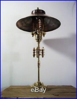 Antique/Vintage Copper/Brass Industrial/Steampunk/Nautical Table/Desk Lamp/Light