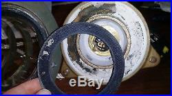 Antique Vintage Electric 13 1/2 Bronze Nautical Ship's Light Lantern