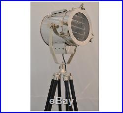 Antique Vintage Hollywood Nautical Lamp Search Spot Light Tripod Spotlight New