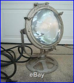 Antique Vintage Navy Maritime Industrial Crouse Hinds Spotlight Search Light