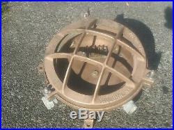 Antique Vintage Pauluhn NY Bronze Ships Light Porthole Style Industrial Boat