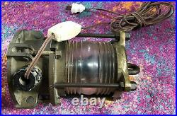 Antique Vintage Ship Lantern Navigational Light Fresnel Lens 9-5-4335-L