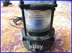 Antique Vintage Ship Lantern Navigational Light Fresnel Lens MODERN METAL MFG CO