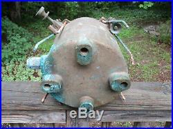 Antique Vintage U. S. L. H. S. Brass Search Light Spot Light 7 Housing Lighthouse