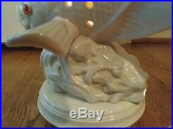 Atlantic VINTAGE LARGE FISH TV LAMP NIGHT LIGHT NAUTICAL BEACH DECOR MCM POTTERY