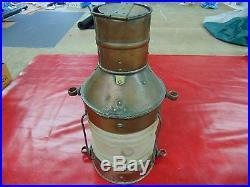 Beautiful Huge Vintage Brass Anchor Ship Lantern Light, Nautical, Boat, Navy, Kustom