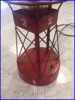Beautiful Rare Vintage K-S Boat Light Nautical Channel Marker Beacon Buoy Lamp