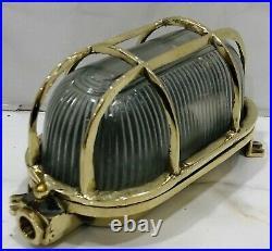 Brass Bulkhead Oval Ship New Light Fixture Nautical Vintage Style 6 Piece