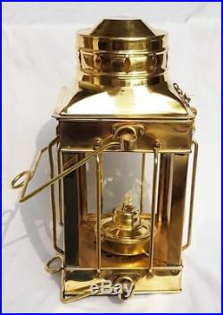 Brass Oil Lamp Vintage Nautical Lamps Maritime Ship Lantern-Anchor Boat Light