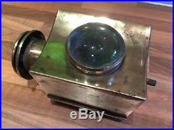 Brass Ships Binnacle Bullseye Lamp Vintage Light Nautical Maritime Marine Boat