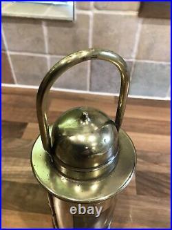Brass Ships Compass Binnacle Oil Lamp Vintage Light Nautical Maritime Marine