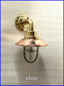 Bulkhead Nautical Vintage Model New Wall Light Fixture Brass & Copper 2 Piece