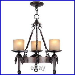 Cape May Vintage Livex 3 Light Olde Bronze Chandelier Ceiling Fixture 4863-67