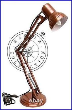 Copper Antique Adjustable Brass Nautical Desk Lamp Vintage Industrial Lighting