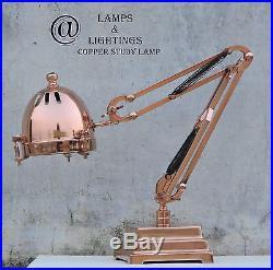 Copper Antique Adjustable Brass Vintage Desk Lamp Nautical Industrial Lighting