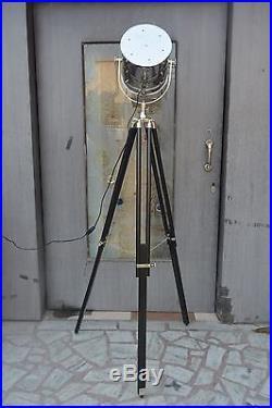 Decorative Floor Lamp vintage Black Tripod Lighting Searchlight Retro Spotlight