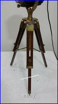 Designer Antique Mini Desk Table Lamp Searchlight Vintage Spot Light Tripod