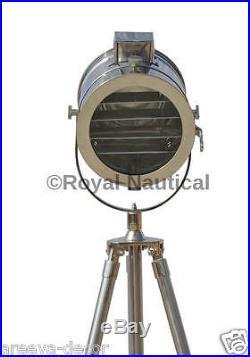 Designer Vintage Nautical Tripod Floor Lamp Search Light Spotlight Led Tripod