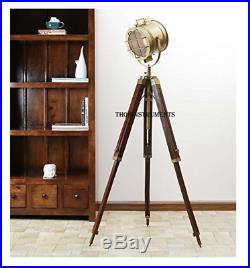 Extendable Vintage Hollywood Nautical Lamp Search Spot Light Tripod Spotlight
