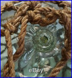 Fishing Float Buoy Ball Japanese Vintage Genuine Glass Light Green NET 12in
