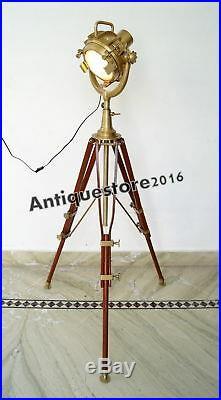Floor Lamp Home Vintage Tripod Lighting Searchlight Spot Light HALLOWEEN OFFER