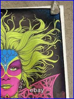 Fortune Teller 1971 black light poster vintage psychedelic C1962