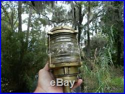 Gorgeous Brass Antique Vintage Boat Nautical Light Norway Brass Anchor Electric