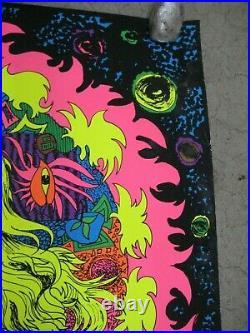 Green eyed lady 1970's black light poster vintage psychedelic C1958