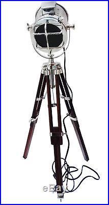 Halloween Design Chrome Tripod Floor Lamp Vintage Industrial Spot Light Lamp Us