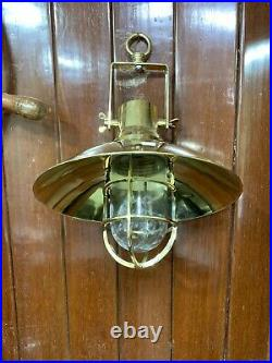 Hanging Cargo Bulkhead Light Nautical Vintage Style Ship Brass New 1 Piece