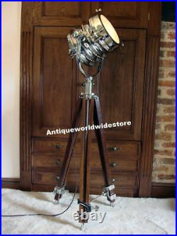 Hollywood Vintage Studio Floor Lamp Searchlight Spot Light With Tripod Stand